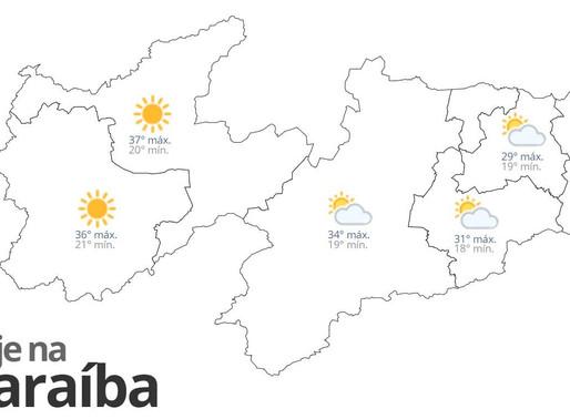 Previsão do tempo para esta sexta-feira em toda Paraíba