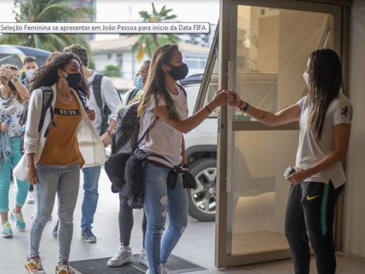Seleção Brasileira Feminina começa a se apresentar em João Pessoa