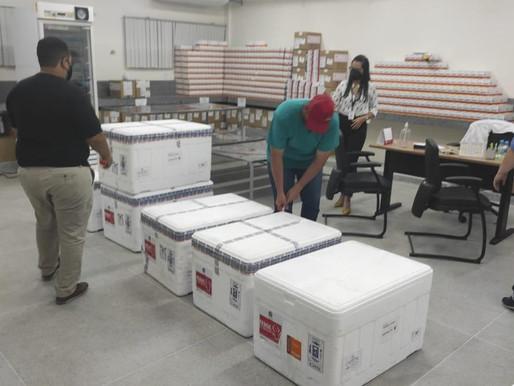 Mais 82 mil doses de vacina contra a Covid-19 são distribuídas aos municípios da Paraíba