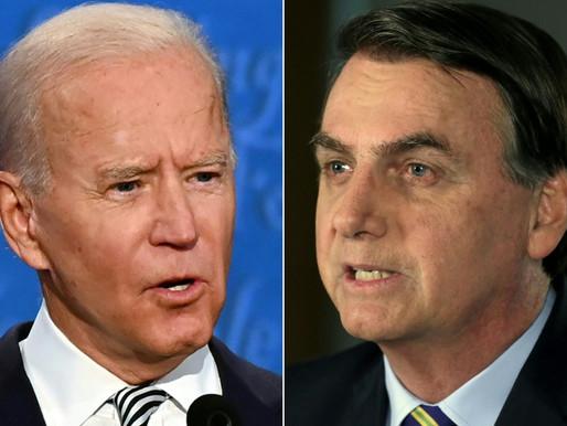 Bolsonaro cumprimenta Joe Biden por posse da Presidência dos EUA