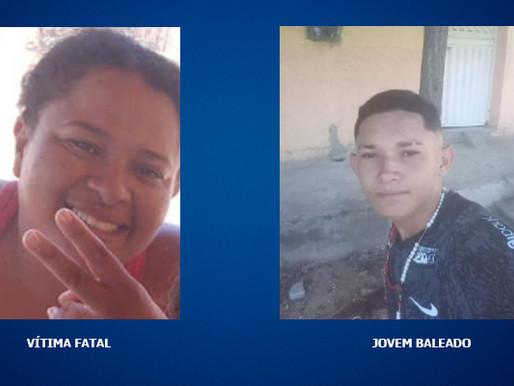 Mulher é morta a tiros e jovem é baleado, na cidade de Uiraúna
