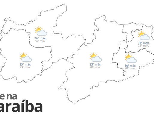 Previsão do tempo para esta quarta-feira em toda Paraíba