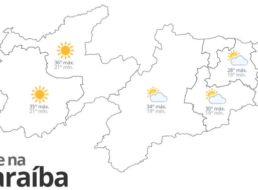 Previsão do tempo para esta terça-feira em toda Paraíba