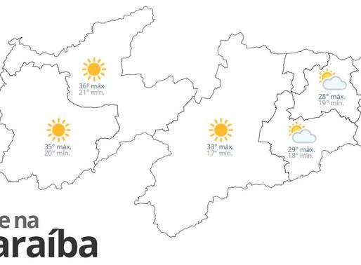 Previsão do tempo para esta segunda-feira em toda Paraíba