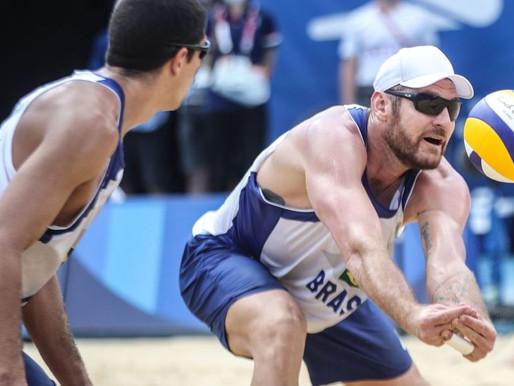 Paraibano Álvaro Filho e Alisson são eliminados no vôlei de praia nas Olimpíadas de Tóquio