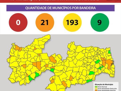 Novo Normal:Primeira avaliação de 2021 aponta redução de municípios nas bandeiras vermelha e laranja