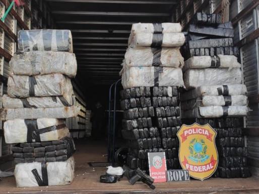 Polícia Federal e Militar intercepta carga com cerca de 620 quilos de drogas no sertão da Paraíba