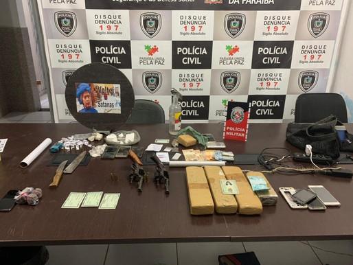 Operação policial prende oito pessoas que praticavam homicídios e tráfico de drogas no sertão da PB