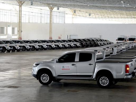 Novos veículos para fortalecer ações e serviços da Saúde são entregues pelo Governo da Paraíba