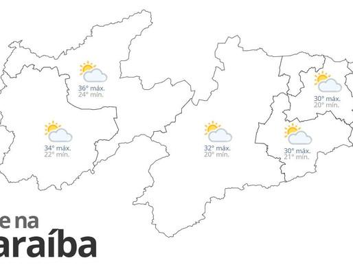 Previsão do tempo para esta quinta-feira em toda Paraíba