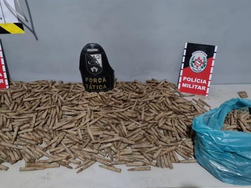 Polícia Militar apreende cerca de 1500 munições de vários calibres que estavam enterradas na Paraíba