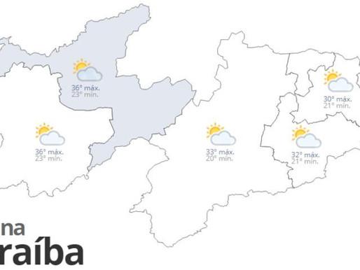 Confira a previsão do tempo para este sábado em toda Paraíba