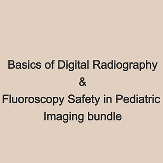 16CE: Basics of Digital Radiography & Fluoro Safety in Ped Imaging *New Bundle*