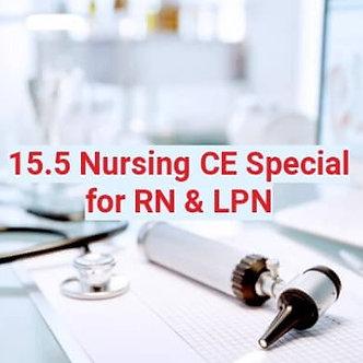 15.5 Nursing CE Special Course for RN & LPN