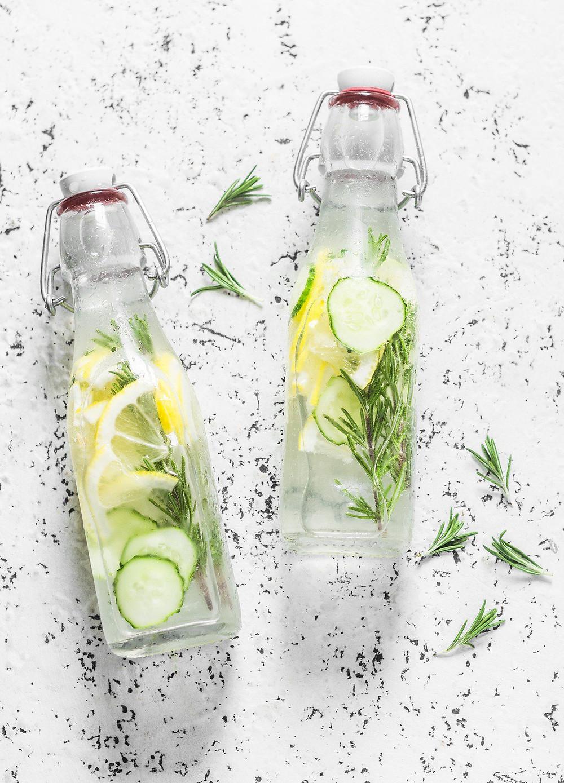 Água do pepino receita infusão