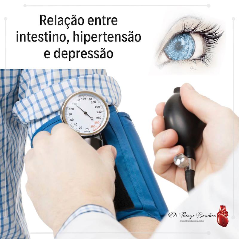 Relação entre depressão hipertensão e intestino
