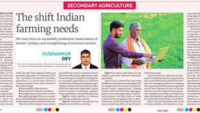 The shift Indian farming needs :- Kushankur Dey