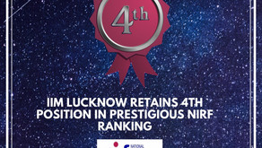 IIM Lucknow retains 4th position in prestigious NIRF ranking