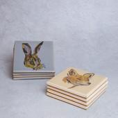 42. Rabbit or Fox coasters