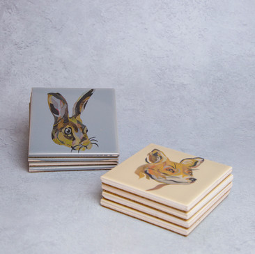 42. Rabbit or Fox coasters