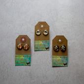 50.Button Boudoir Earrings