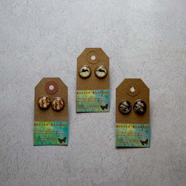 50.Button Boudoir Earrings