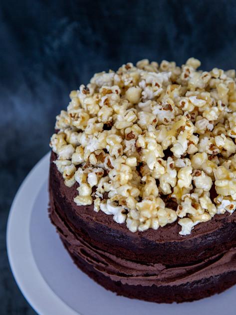 2 layers Chocolate Popcorn Vegan