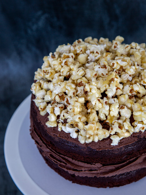 2 layers Chocolate Popcorn Vegan