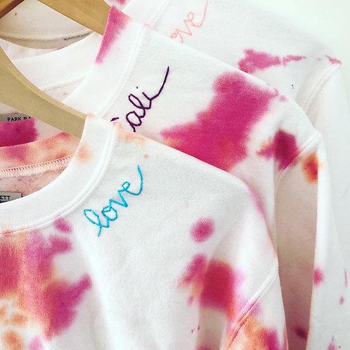 Pop punch embroidered sweatshirt