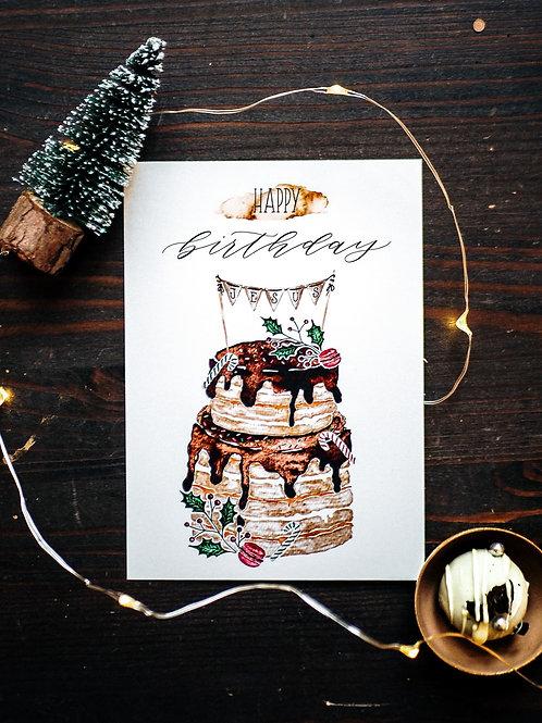 HAPPY BIRTHDAY JESUS - POSTKARTE