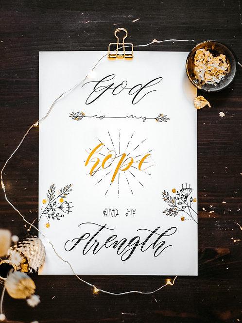 HOPE & STRENGTH - A4