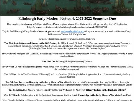 Upcoming Seminar Series for Autumn 2021