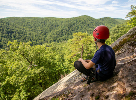 Climbing Bear Rock at GRP