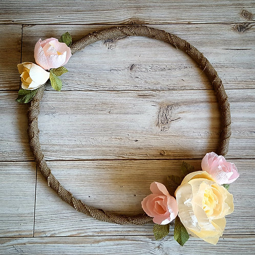 Rustic Hessian Wedding Hoop