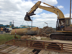 Tank Removal with Trackhoe