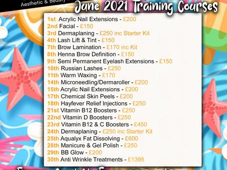 June 2021 Training Dates