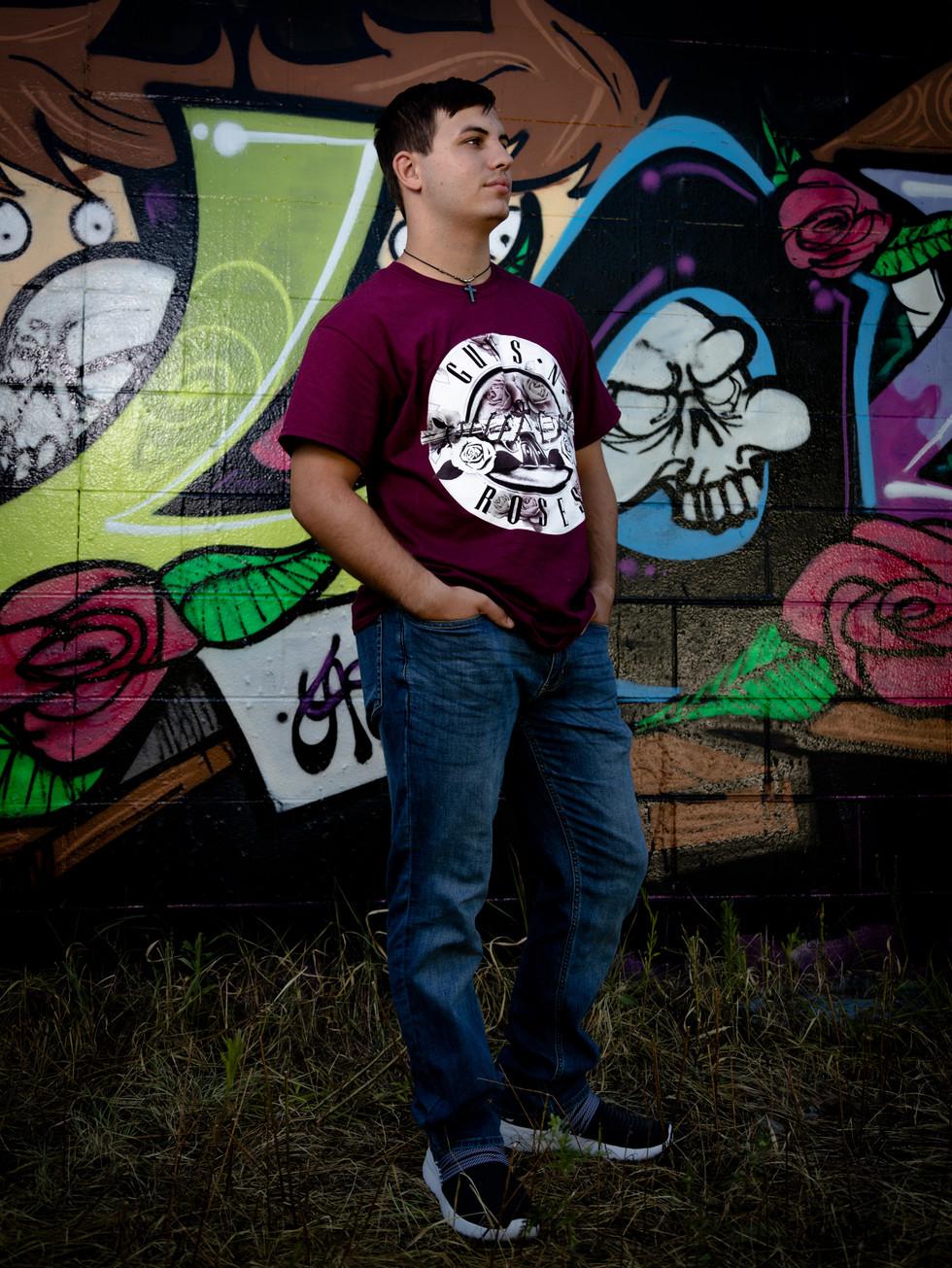 Senior Portraits at the Graffiti wall in Dayton, OH