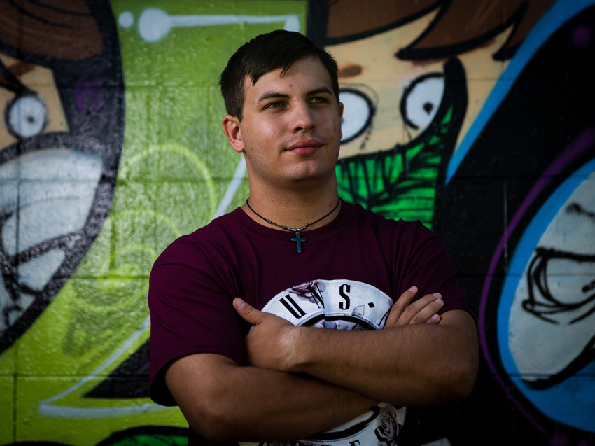 Senior Portrait at Graffiti wall in Dayton, OH