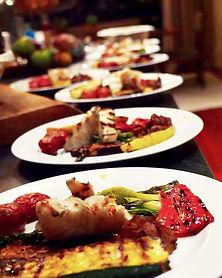 Sea Bass, Grilled Zucchini, Asparagus, R