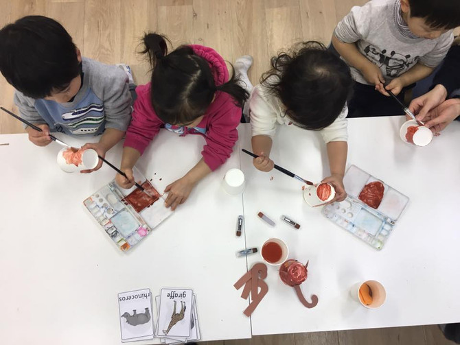 【CRAFT & ESL 】Animals & Adjectives!