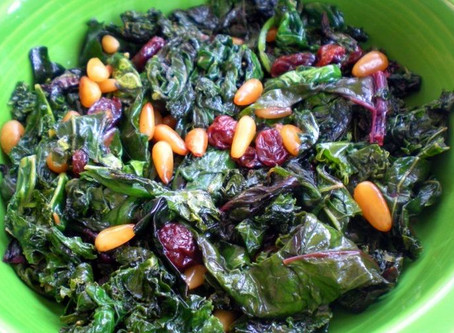 Greens with Pine Nuts & Raisins