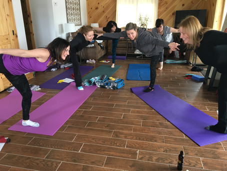 April Wellness Retreat ~ Friends & Family coming together on a beautiful snowy weekend