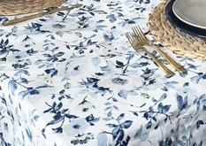 Blue floral tablecloth modern