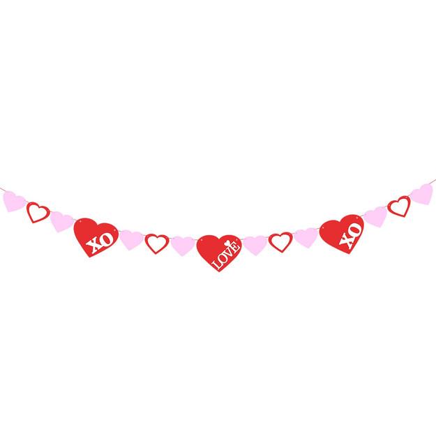 xoxo love banner valentines