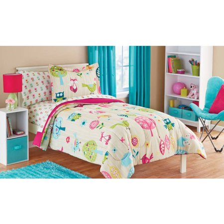 colorful woodland creatures bedding
