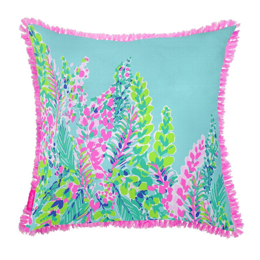 Lilly Pulitzer throw pillow for girls bedroom