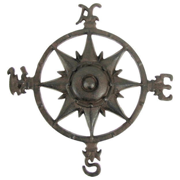 Compass Rose Decoration Cast Iron North South East West