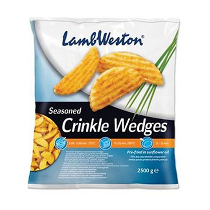 Crinkle Potato Wedges