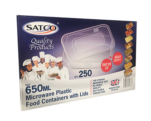 Satco 650ml containers