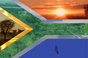 South African Flag Scenery